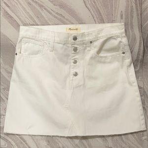 Madewell Rigid Denim White Jean Skirt Sz 30